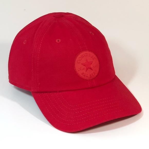 Converse All Star Baseball Hat Cap Enamel Red NWT